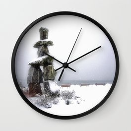 Inukshuk, Vancouver Wall Clock