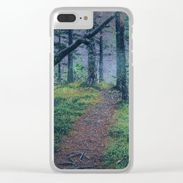 Nightly Woods Clear iPhone Case
