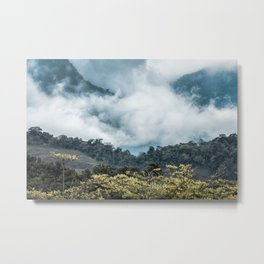 Clouds in the Mountain Metal Print
