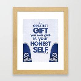 Honest Self Framed Art Print