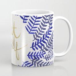 Treat Yo Self – Gold & Navy Coffee Mug