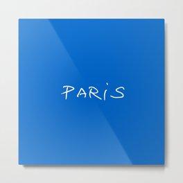Paris 2 blue Metal Print