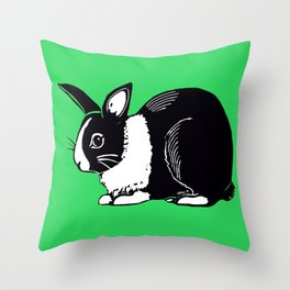 Dutch Rabbit Throw Pillow