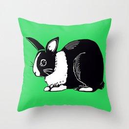 Dutch Rabbit Throw Pillow