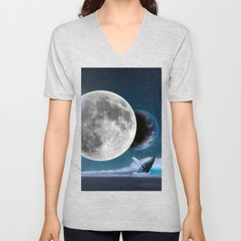 Blue Whale by GEN Z Unisex V-Neck