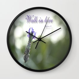 Walk In Love Wall Clock