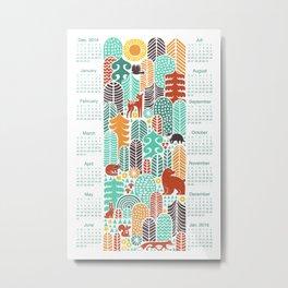 forest friends calendar Metal Print