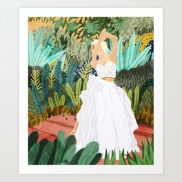 Forest Bride Art Print