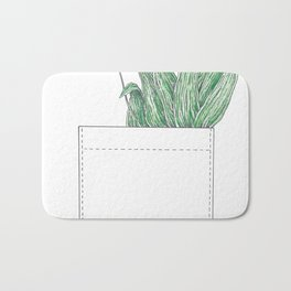 pocket of ribwort Bath Mat