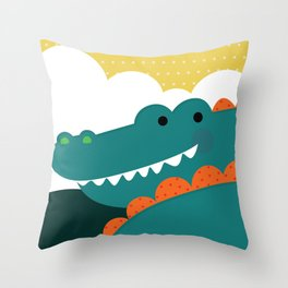 Crocodile rock Throw Pillow