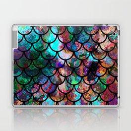 Abstract Black Fish Scales Pattern Laptop & iPad Skin