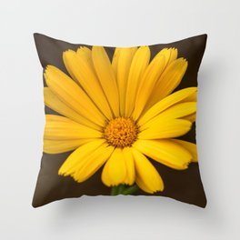 Another yellow marigold Throw Pillow