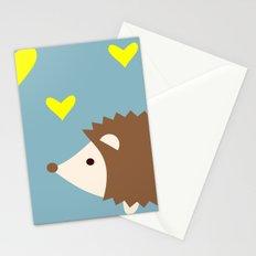 hedgehog blue Stationery Cards