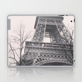 Eiffel tower, Paris, black & white photo, b&w fine art, tour, city, landscape photography, France Laptop & iPad Skin