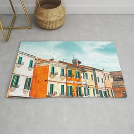 Burano Island #painting #digitalart #travel Rug