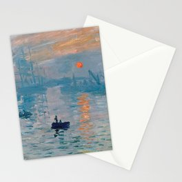 Claude Monet Impression Sunrise Stationery Cards