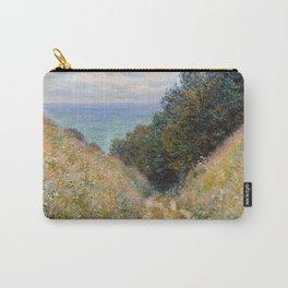 """Claude Monet """"Road at La Cavée, Pourville"""" Carry-All Pouch"""