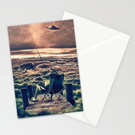 Fishing Above the Clouds Stationery Cards