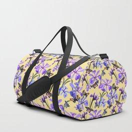 Irises and Butterflies Duffle Bag