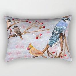 Birds in winter Rectangular Pillow
