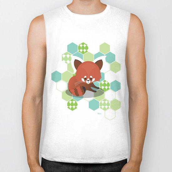 Red Panda Biker Tank