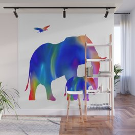 Elephant mom and baby Wall Mural