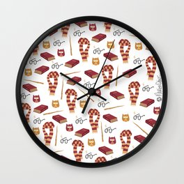 Pottember (white version) Wall Clock