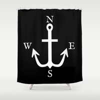 compass Shower Curtains featuring Compass  by Asylum Photography