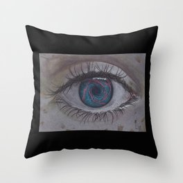 Eye 1# Rose Throw Pillow