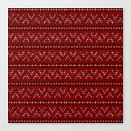Pattern Christmas Snowflake Canvas Print