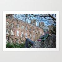 oscar wilde Art Prints featuring Oscar Wilde by Psphotographydublin