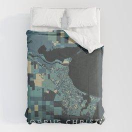 Corpus Christi, United States - Cream Blue Comforters