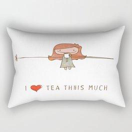 I love tea girl Rectangular Pillow