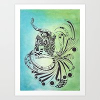 pisces Art Prints featuring Pisces by Heaven7