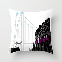 book cover Throw Pillows featuring Emergence - Book Cover by svitka