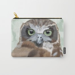 Green Eyed Owl Carry-All Pouch