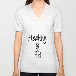 Healthy & Fit Collection Unisex V-Neck