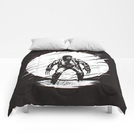 Logan Glitch art Comforters