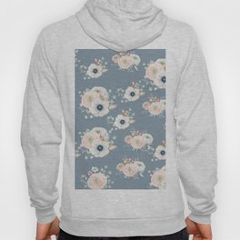 Dog Rose Pattern 3 Hoody