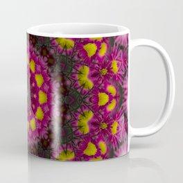 Pink Aster Kaleidoscope Coffee Mug