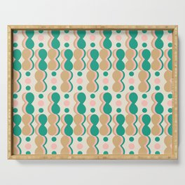Uende Cactus - Geometric and bold retro shapes Serving Tray