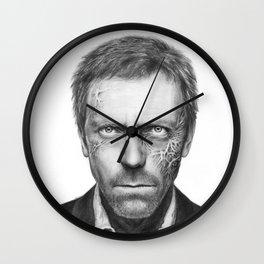 House MD Zombie Portrait Hugh Laurie Wall Clock
