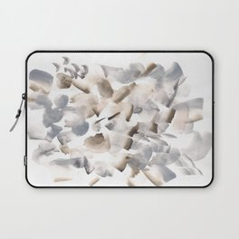 180630 Grey Black Brown Neutral Abstract Watercolour 9  | Watercolor Brush Strokes Laptop Sleeve