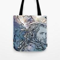 fili Tote Bags featuring The Hobbit - Fili by lorna-ka