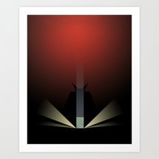 Smooth Minimal - A viking with a very big hammer Art Print