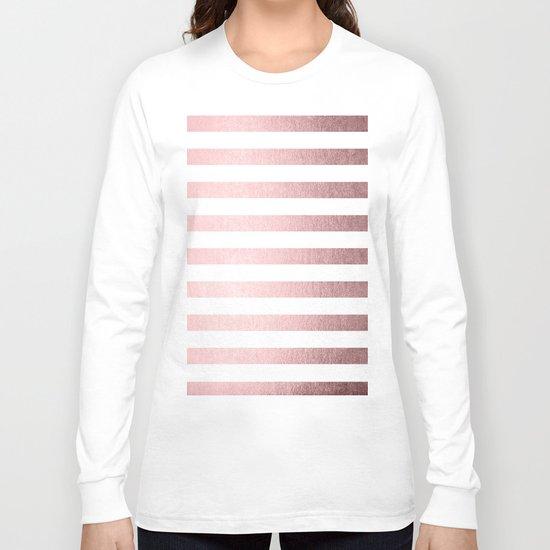 Simply Striped Rose Quartz Elegance Long Sleeve T-shirt