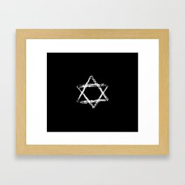 Star of David 22- Jerusalem -יְרוּשָׁלַיִם,israel,hebrew,judaism,jew,david,magen david Framed Art Print