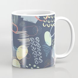Playful Colorful 80s Marks Coffee Mug