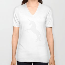 The White Unicorn Unisex V-Neck