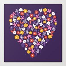 Ditsy Heart Canvas Print